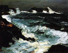 Robert Henri - Rough Seas Near Lobster Point (1903)