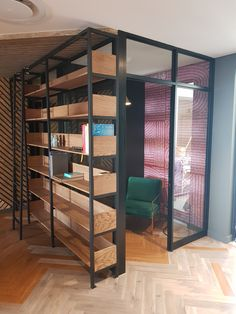 Phone booth and library shelf. Coffee shop and informal meeting space design for FCB Africa by Design Partnership. Library Shelves, Environmental Design, Interior Photography, Hospitality Design, Design Agency, Restaurant Design, Contemporary Design, Coffee Shop, South Africa