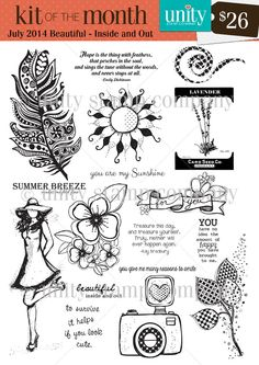 Unity Stamp Kit of the Month JULY-2014-BEAUTIFUL-INSIDE-AND-OUT
