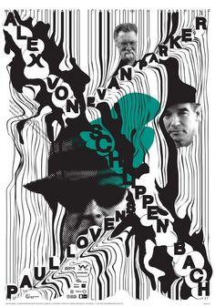Poster  Ostengruppe pour le concert du trio Alex von Schlippenbach, Evan Parker et Paul Lovens au centre DOM à Moscou