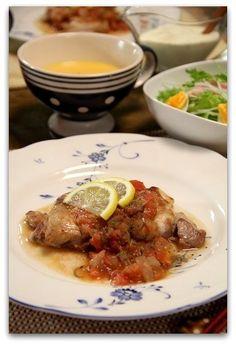 鶏肉のソテー*トマトソース キャロットポタージュ by miyukiさん ...