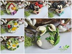 Images for mario fimo tutorial Polymer Clay Kunst, Cute Polymer Clay, Polymer Clay Flowers, Fimo Clay, Polymer Clay Charms, Polymer Clay Projects, Polymer Clay Creations, Clay Crafts, Polymer Clay Jewelry