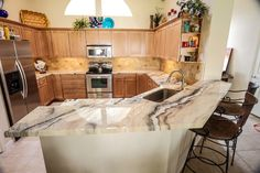 Inspiration for Kitchen Epoxy Countertops and How-to Videos. Epoxy Countertops, Floors, Wall Systems and More. Decorative Concrete Countertops, Kitchen Benches, Epoxy Countertop, Curved Kitchen Island, Epoxy, New Countertops, Marble Countertops Bathroom, White Marble Countertops, Countertops