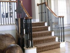 I like the carpet on the stairs