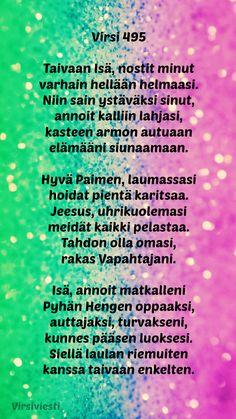 #Virsiviesti #Virsi #Virsi495 #Virret #Jumala #Jeesus