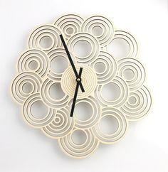 Intergrated Circle Design Clock - Modern