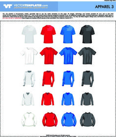 Download free 30 Vector Tshirt Templates