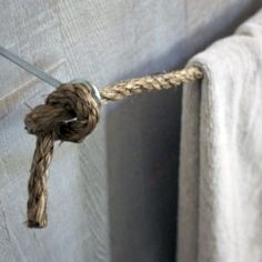 For hanging curtains