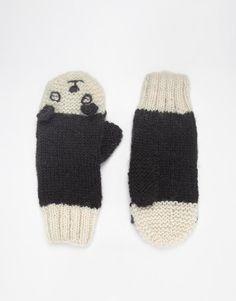 People Tree | People Tree Panda Print Mitten Gloves at ASOS