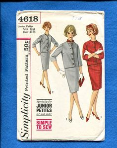 1960's Simplicity 4618 Retro Ladie's Luncheon Jacket by MrsWooster
