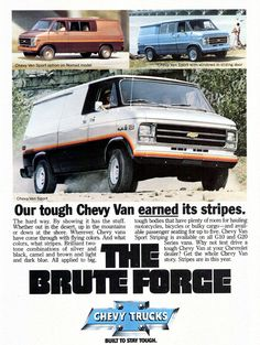 Chevrolet Chevrolet Van, Chevrolet Trucks, Chevy Trucks, Station Wagon, Car Brands Logos, Gmc Vans, Astro Van, Van Storage, Old School Vans