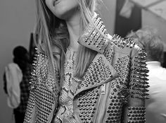 Studded leather jacket. How could it get better?