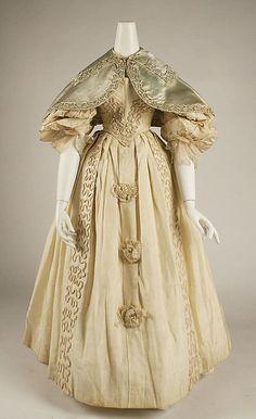 Ensemble    Date:      ca. 1832  Culture:      British  Medium:      silk  Dimensions:      Length (a): 44 1/2 in. (113 cm) Length (d): 11 1/2 in. (29.2 cm)