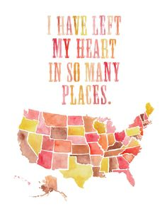 I left my heart in so many places
