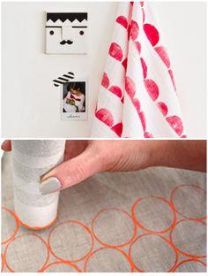 Dit weekend ga ik met verf aan de slag. Genoeg inspiratie op ons Pinterest board DIY & Craft Ideas Zelf ga ik voor stof denk ik, de aardappelstempel is makkelijk én leuk!1. stenen verven 2. Stempel met de gum op de achterkant van een potlood 1. Aardappelstempel op stof 2. Stempel een patroon met...
