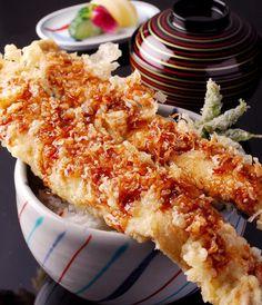 Sea Eel Rice Bowl, 康吉鳗盖饭 Japanese ( Anago Don 穴子天丼)