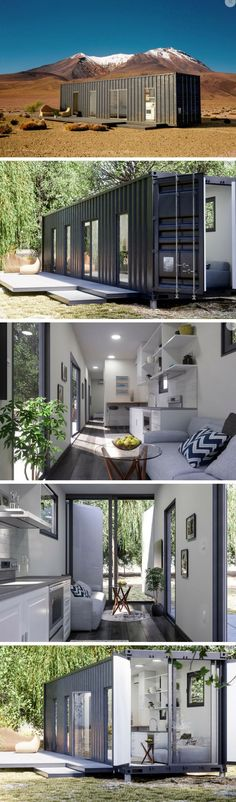 "LUCKDROPS STUDIO+ TINY CONTAINER HOME Stated to be ""a 'pretty' tough home,"" Luckdrops introduces their state-of-the-art well-engineered homes designed from strong tiny container home. Building A Container Home, Container House Design, Tiny House Design, Tiny House Cabin, Tiny House Living, Shipping Container House Plans, Shipping Containers, Modular Homes, Prefab"