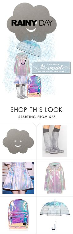 """rainy days : mermaid weather"" by xxrandomgirlxx ❤ liked on Polyvore featuring LIND DNA, ASOS, Boohoo, Spiral, Vera Bradley and My Word!"
