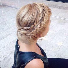 Side-Swept Bun with Braids