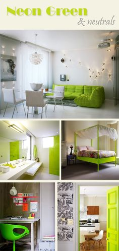 Touch of Neon: Neon Green and Neutrals
