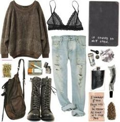 How hipster are you presently? It's time to speak about my favorite hipster outfit inspiring ideas for ladies. Style Outfits, Mode Outfits, Grunge Outfits, Grunge Fashion, Look Fashion, 90s Fashion, Fall Outfits, Casual Outfits, Fashion Outfits