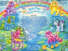 My Little Pony Beddy-Bye-Eyes Baby Pony Backcard