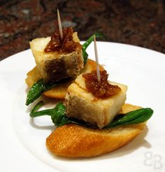 Basque Cuisine · bacalao and pimento pepper served on a slice of crusty  white baguette - Casa Grandarias Basque 3efb0adce