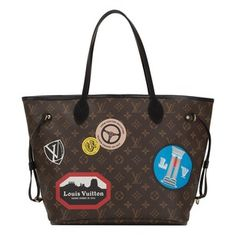 Louis Vuitton Limited Patches Monogram Neverfull Tote