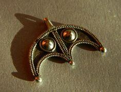Silver lunula (lunitsa), replica jewelery. Find from Moravia Magna in the village Bojná, Slovakia
