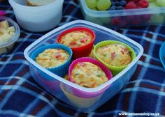 Eats Amazing UK - Rainbow Omlette Cakes Recipe - so simple and quick to make - perfect kids lunch box food and for picnics!