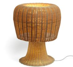 Lampe de table Amanita H 60 cm Rotin - Alessi
