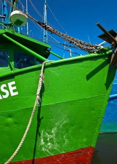Green shrimp boat, Shem Creek, Mt. Pleasant, SC © Doug Hickok  All Rights Reserved by carter flynn