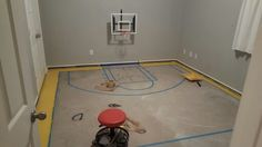 Adding the lines to the court