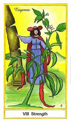 VIII. Strength (Cayenne) - Herbal Tarot by Candice Cantin, Michael Tieris