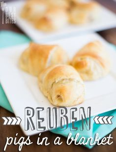 If you're a fan of the Reuben, you'll love these super easy Reuben Pigs in a Blanket!  Perfect Party food or pair it with a salad for a light lunch or dinner. #PigsinaBlanket #OurBestBites #Appetizer