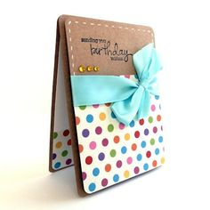 Polka Dot Bday wishes card