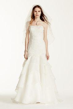 Melissa Sweet Floral Lace Trumpet Wedding Dress MS251003