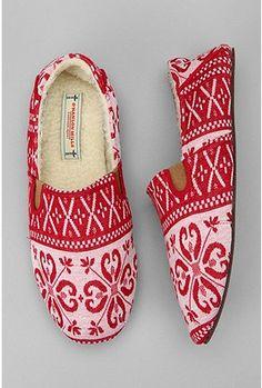 fair isle slipper
