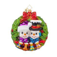 Radko 2015 Dated Snowmen Wreath