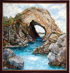 Natural Wonders Landscape Quilt by Kathy McNeil--Best of Show at Road to California 2011.