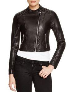 MACKAGE Misha Cropped Washed Leather Jacket. #mackage #cloth #jacket