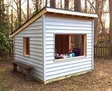 simple, free playhouse plan with shed roof and 8x8 in size #DIYShed8x8