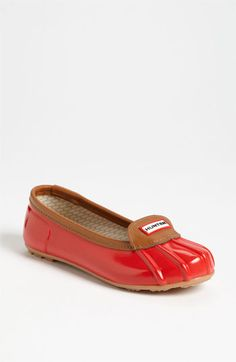 Hunter 'Jenna' waterproof flats...how cute!