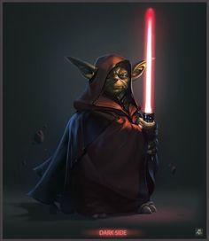 Star Wars: What Ifs? - What if Yoda went to the Dark Side? - Art: http://niconoff.deviantart.com/art/darth-yoda-270868155