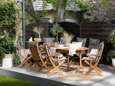 Wooden Furniture up to off Wooden Garden Table, Garden Dining Set, Garden Table And Chairs, Outdoor Dining Set, Outdoor Decor, Acacia Table, Acacia Wood, Lounge Furniture, Wooden Furniture