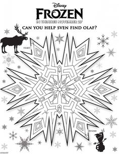 Activity Sheets from the Disney film FROZEN, available in theaters November 27th (www.memyselfandjen.com)