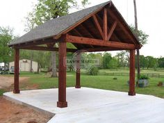 pavillion garten Gable Pavilion 15 love for the back patio! pavillion garten Gable Pavilion 15 love for the back patio! Outdoor Pavillion, Backyard Pavilion, Backyard Gazebo, Backyard Patio Designs, Deck With Pergola, Pergola Patio, Backyard Landscaping, Pergola Kits, Pergola Ideas