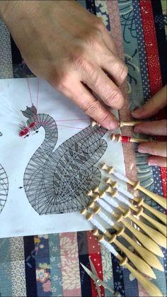 Bobbin lace 20140222-6 Irish Crochet, Crochet Lace, Bobbin Lacemaking, Lace Art, Bobbin Lace Patterns, Lace Jewelry, Tatting Lace, Needle Lace, Lace Making