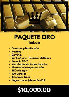 Paquete Oro #marketing #webdesign #socialmedia #queendigitalmarketing #marketingdigital