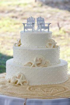 Sea shells, Beach Wedding Cake